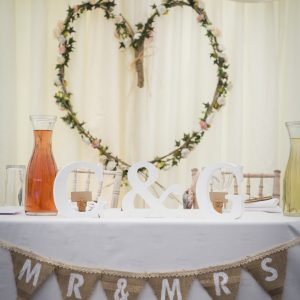 Willow heart with floral garland £16. Photo from Two-D Photography