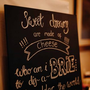 Calligraphy Chalk Boards available to hire from £32