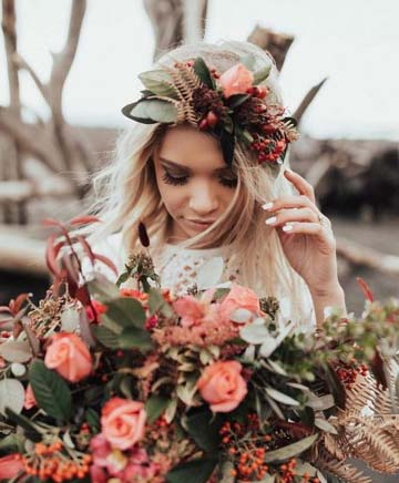 Peachy Floral Dreams - Image from Bride and Tonic Blog