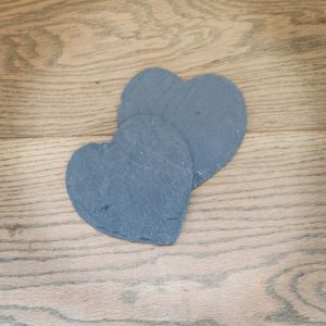 X10 Large slate hearts usual price £2 each, offer price £1.50 each. Small skate hearts £1 each