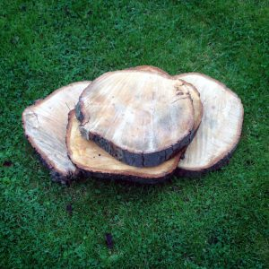 Assorted size and shape wooden logs, offer price £1.50 each. Usual price £2 each
