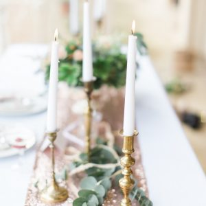 Rose Gold Sequin Table Runner