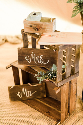 wooden crates to hire. Image from Sung Blue Photo