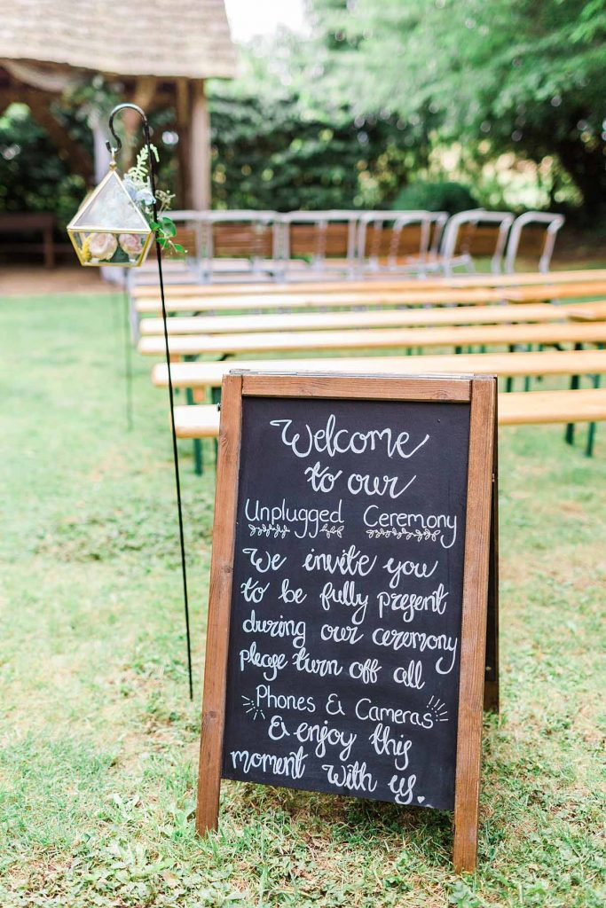 Plain A -Frame to hire from £10. Photo by Summer Lily.