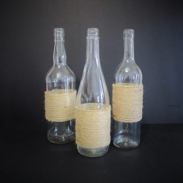 wrapped bottles