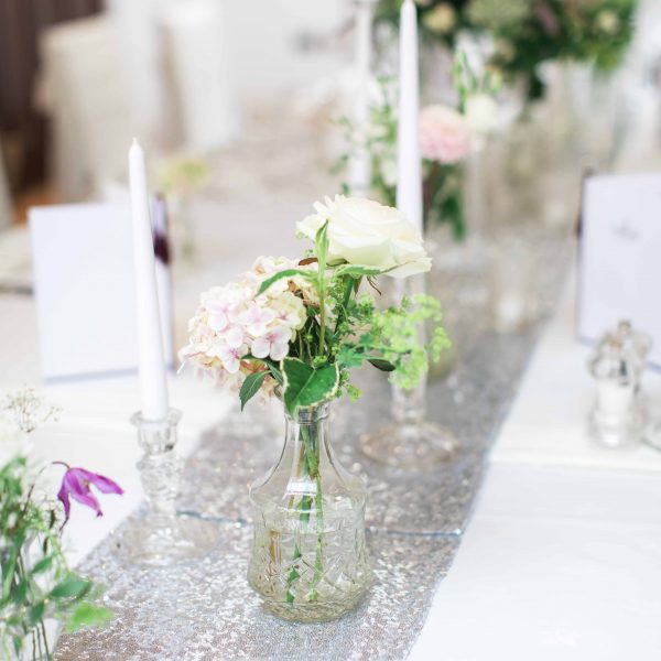 Silver Sequin Table Runner Photo from Summer Lily