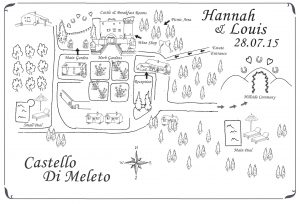A Map Of A Location Wedding In Italy