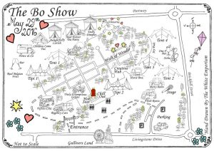 Hand Drawn Map For BoShow MK