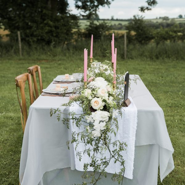 White Cotton Table Runner £6. Photo from Lindsey Arber