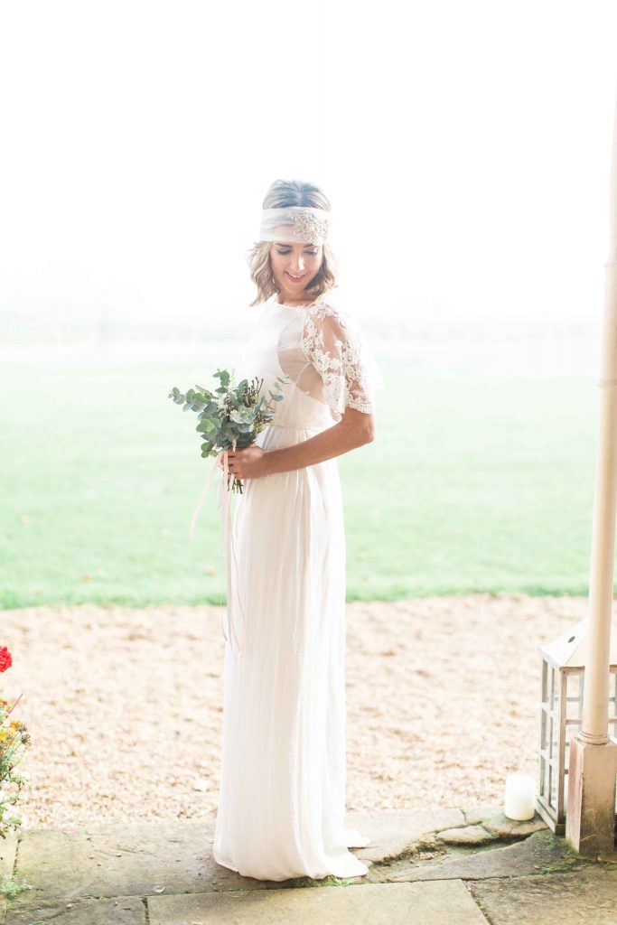 Elegant styled shoot at Moggerhanger House