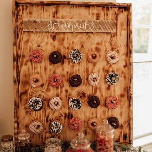 Doughnut wall to hire. Image from Ania Ames Photography