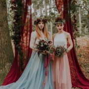 Berry Chiffon Drapes. Photo by Lola Rose Photography