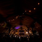 Fairy Lights installed at South Farm. Image from Lina and Tom Photography