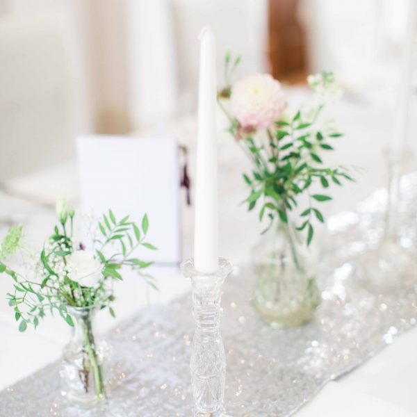 Glass Candle Sticks to Hire