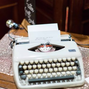 Vintage typewriter to hire Bedfordshire. Photo Summer Lily Studio.