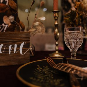 Calligraphy Table Numbers to Hire. Photo from Thyme Lane Photography