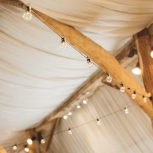 Festoon Lights to hire. Photo from Cat Lane Photography