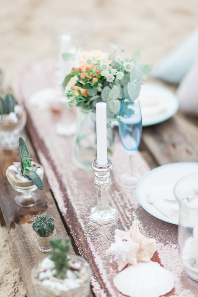 Summer Lilly Studio. Beach Shoot. Camber Sands.Styled  Tablescape by The White Emporium.
