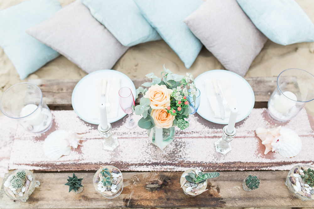 Summer Lilly Studio. Beach Shoot. Camber Sands.Styled  Tablescape.