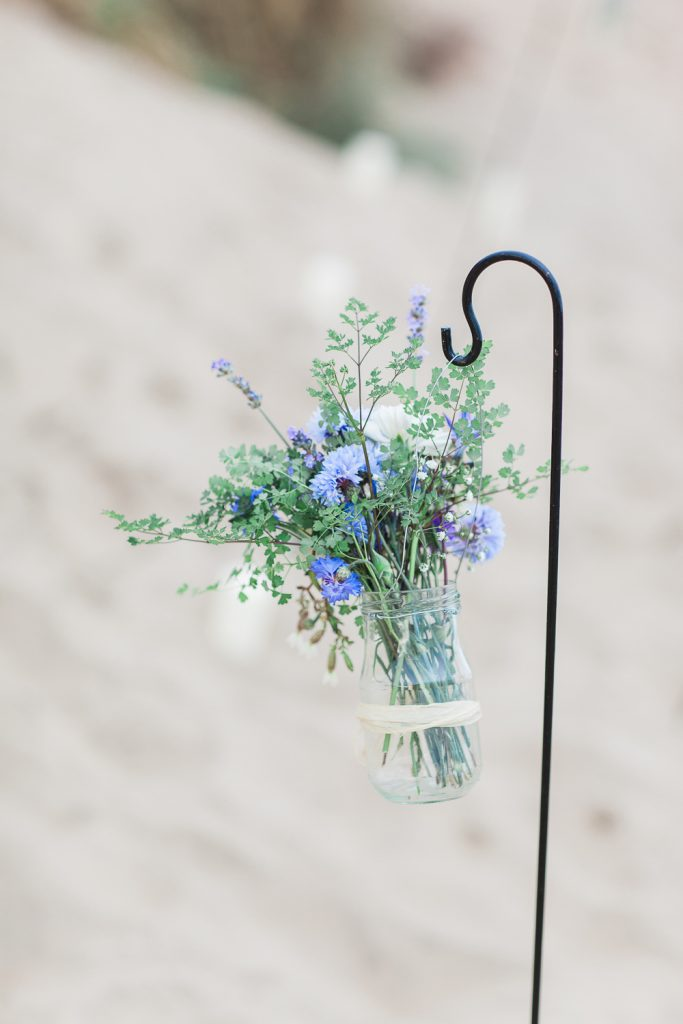Summer Lilly Studio. Beach Shoot. Camber Sands.Hints of blue corn flowers.