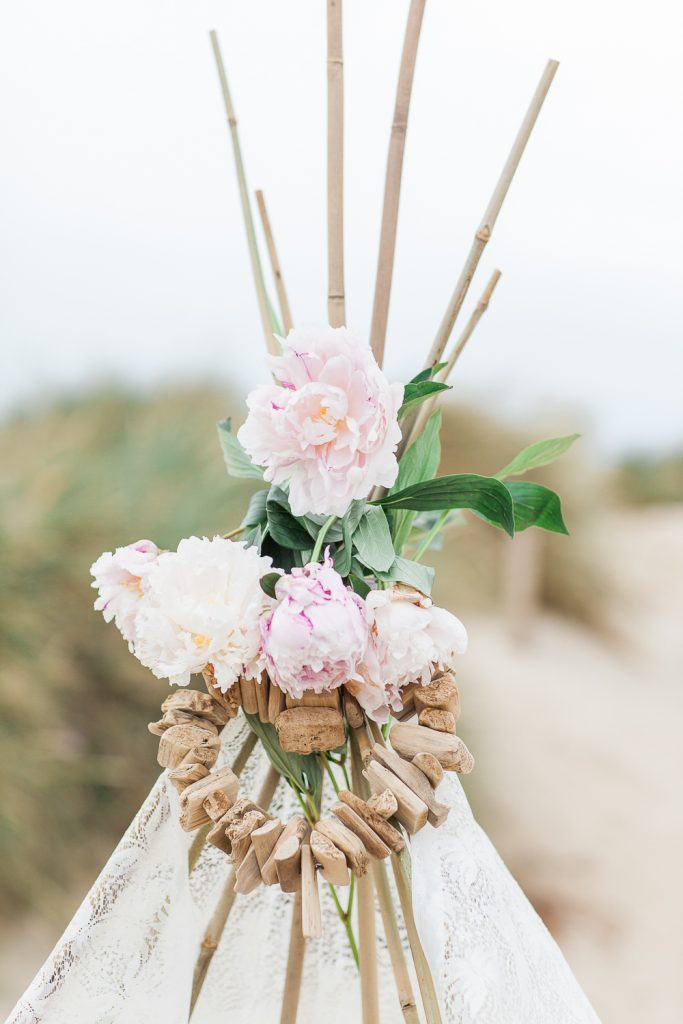 Summer Lilly Studio. Beach Shoot. Camber Sands.Lace Tipi.