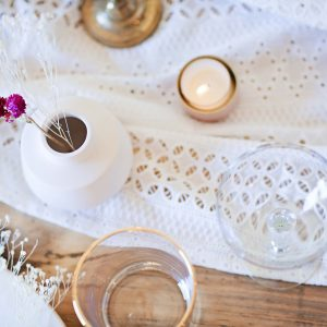 Broderie Anglaise Table Runner