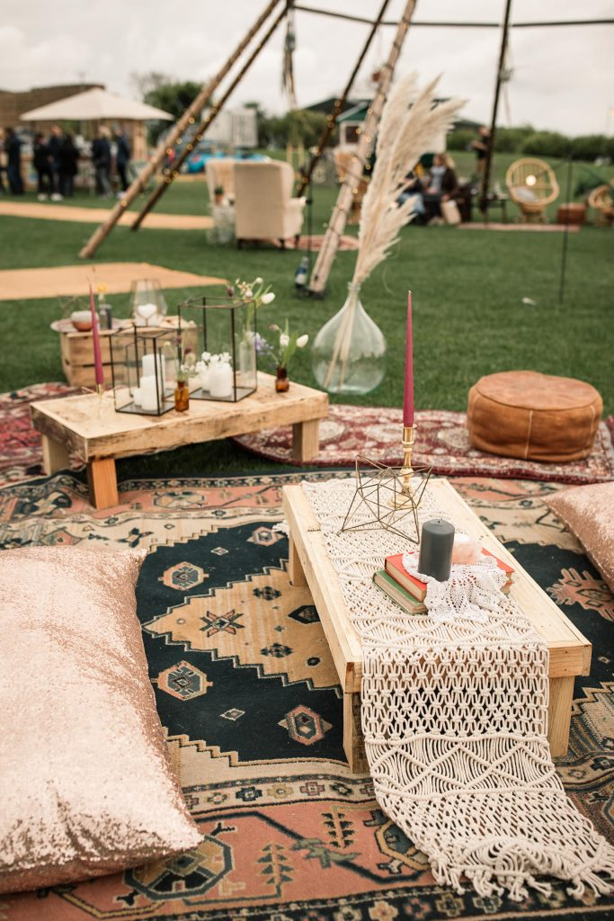 Boho chill out area