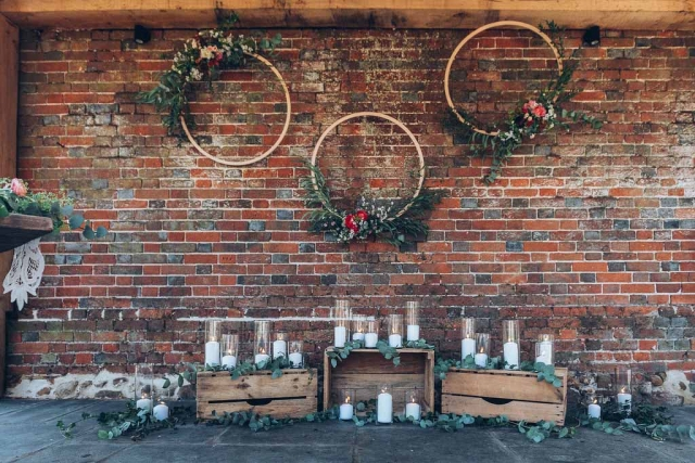 Ceremony goals. Elegant and rustic backdrop styling