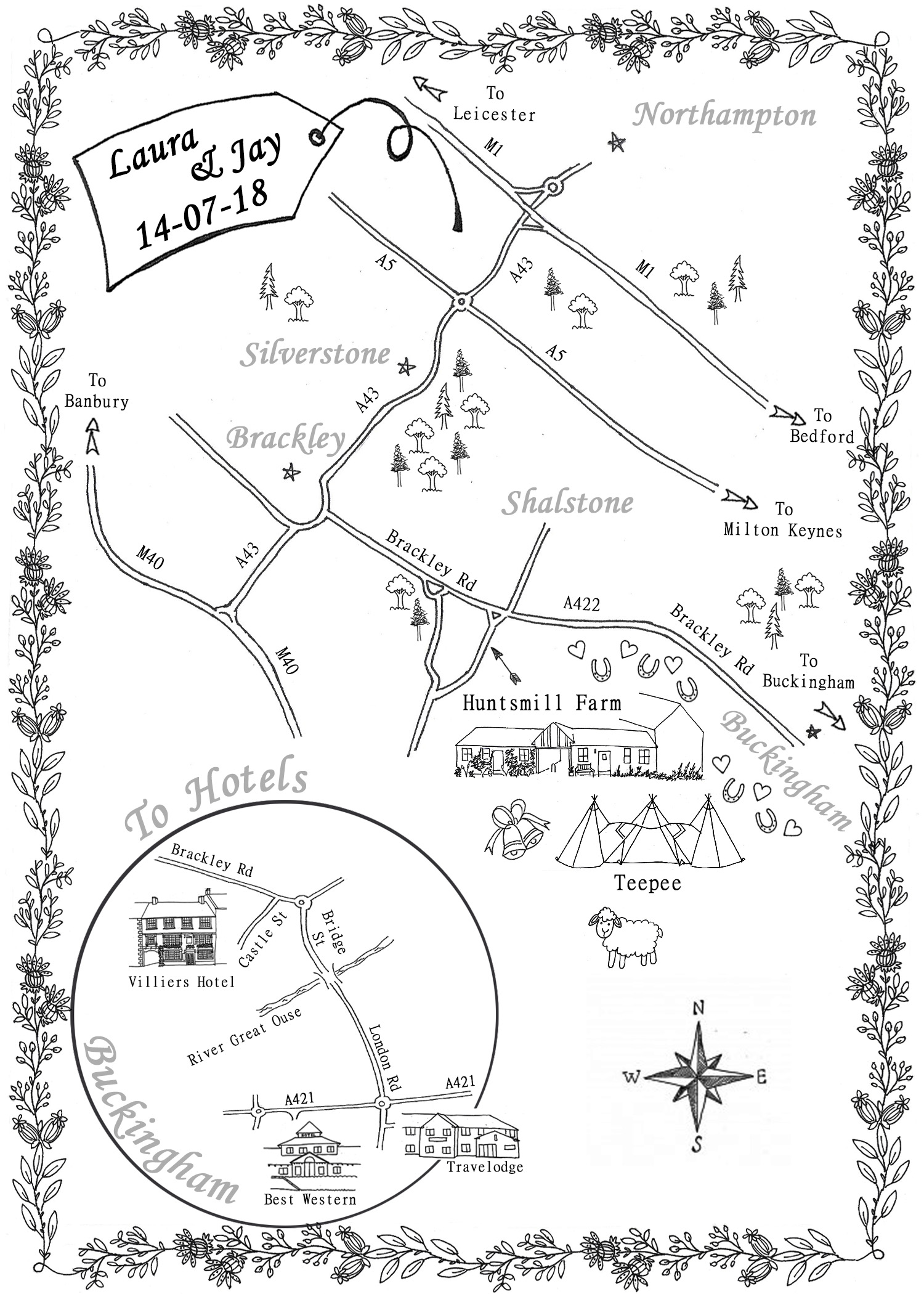 Directional Hand Drawn Maps