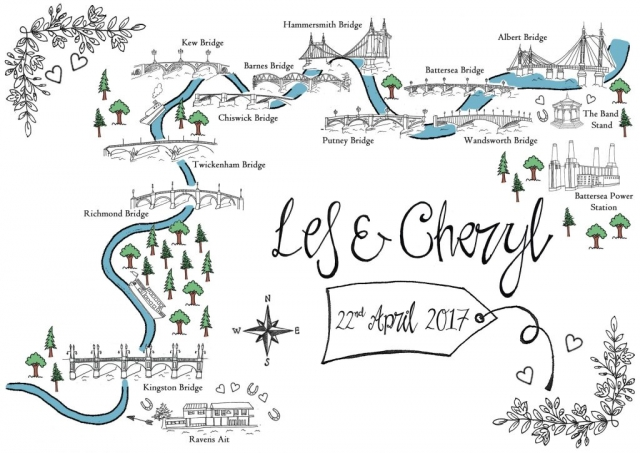 Hand Drawn Table Plan Maps