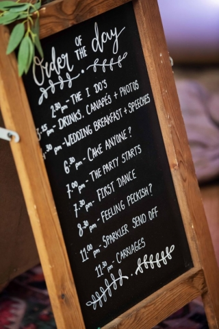 Chalkboard A Frame Calligraphy sign