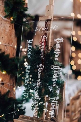 Perspex Table Plan