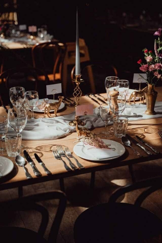 Ester and Erik candles perfectly compliment this table design