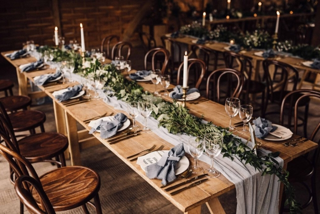 Rustic and elegant tablescapes. Styled by The White Emporium